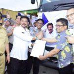 Foto. Mentan dan Gubernur Lampung melepas ekspor komoditas pertanian di Kabupaten Lampung Tengah Provinsi Lampung.