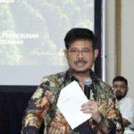Foto : Menteri Pertanian Syahrul Yasin Limpo Saat Memberikan Arahan Dalam Pertemuan Dengan Puluhan Eksportir di Auditorium Gedung D