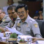 Foto : Menteri Pertanian Syahrul Yasin Limpo Saat Memaparkan Program-progran Kementan