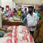 Foto. Menteri Pertanian Syahrul Yasin Limpo Bersama Kepala Badan Ketahanan Pangan (BKP) Agung Hendriadi saat Memantau Langsung ke TTIC