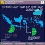 Foto : Peta Prediski Hujan dan Sifat Hujan Bulan Maret-Mei