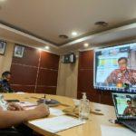Foto : Pelatihan Penulisan Berita Secara Dari Melalui Video Conference (Vicon)