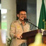 Foto : Menteri Pertanian Syahrul Yasin Limpo Saat Melakukan Pidato Beberapa Waktu Lalu