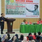 Foto : Menteri Pertanian, Syahrul Yasin Limpo saat Menyampaikan Pesan Penting pada Kuliah Umum di Unhas