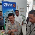 Foto : Menteri Pertanian Syahrul Yasin Limpo Saat Acara Launching Inovasi dan Teknologi Kesehatan Unggas Veteriner (BB Litvet) Balitbang