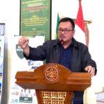 Foto : Kepala Pusat Pelatihan Pertanian, Bustanul Arifin Caya Saat Memberikan Arahan pada Kegiatan Sosialisasi Sistem Informasi Sertifikasi (Sister)