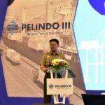 Foto: Mentan Syahrul saat memberikan sambutan dalam Raker PT Pelindo III Persero 2019 di Surabaya.