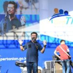 Foto: Menteri Pertanian, Syahrul Yasin Limpo dalam Tani On Stage di Makassar.