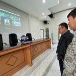 Foto : Kepala Pusat Pelatihan Pertanian, Bustanul Arifin Caya Saat Mengunjungi ke Agricultural Operational Room (AOR)