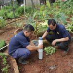 Foto : Proses pembuatan Lubang Biopori