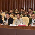Foto : Menteri Pertanian Syahrul Yasin Limpo Beserta Jajarannya Saat Rapat Kerja Dengan Komisi IV DPR RI di Gedung Parlemen, Jakarta.