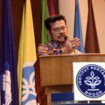 Foto: Mentan SYL saat mengisi acara Diskusi Publik Dalam Penguasaan dan Pengembangan Inovasi Teknologi Untuk Meningkatkan Ketahanan Pangan Nasional, di Auditorium Gedung Andi Hakim Nasoetion IPB.