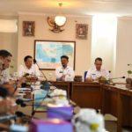 Foto : Menteri Pertanian, Syahrul Yasin Limpo Saat Memberikan Arahan Ke Seluruh Pimpinan Unit Kerja Lingkup Badan Karantina Pertanian di Indonesia