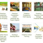 Foto: Berbagai materi seputar pertanian dalam E-learning Puslatan.