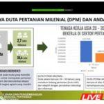 Foto : Data Duta Petani Milenial dan Petani Andalan saat Video Conference BPPSDMP