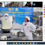 Foto : Pelatihan Via Zoom Cloud Meeting Membuat Mozarella Cheese