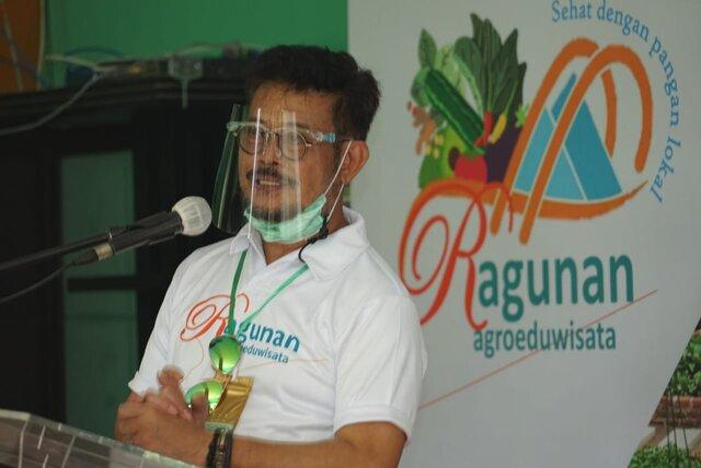 Mentan SYL di Acara Launching AEW Ragunan: Hadapi Pandemi, Harus Kreatif dan Produktif